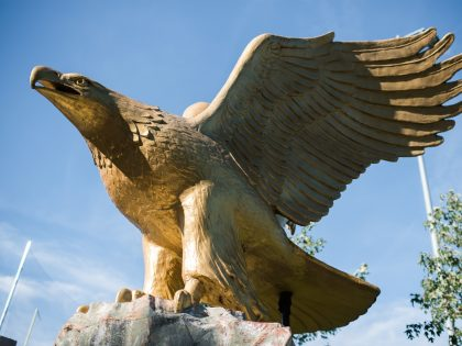 Northwestern Eagle statue