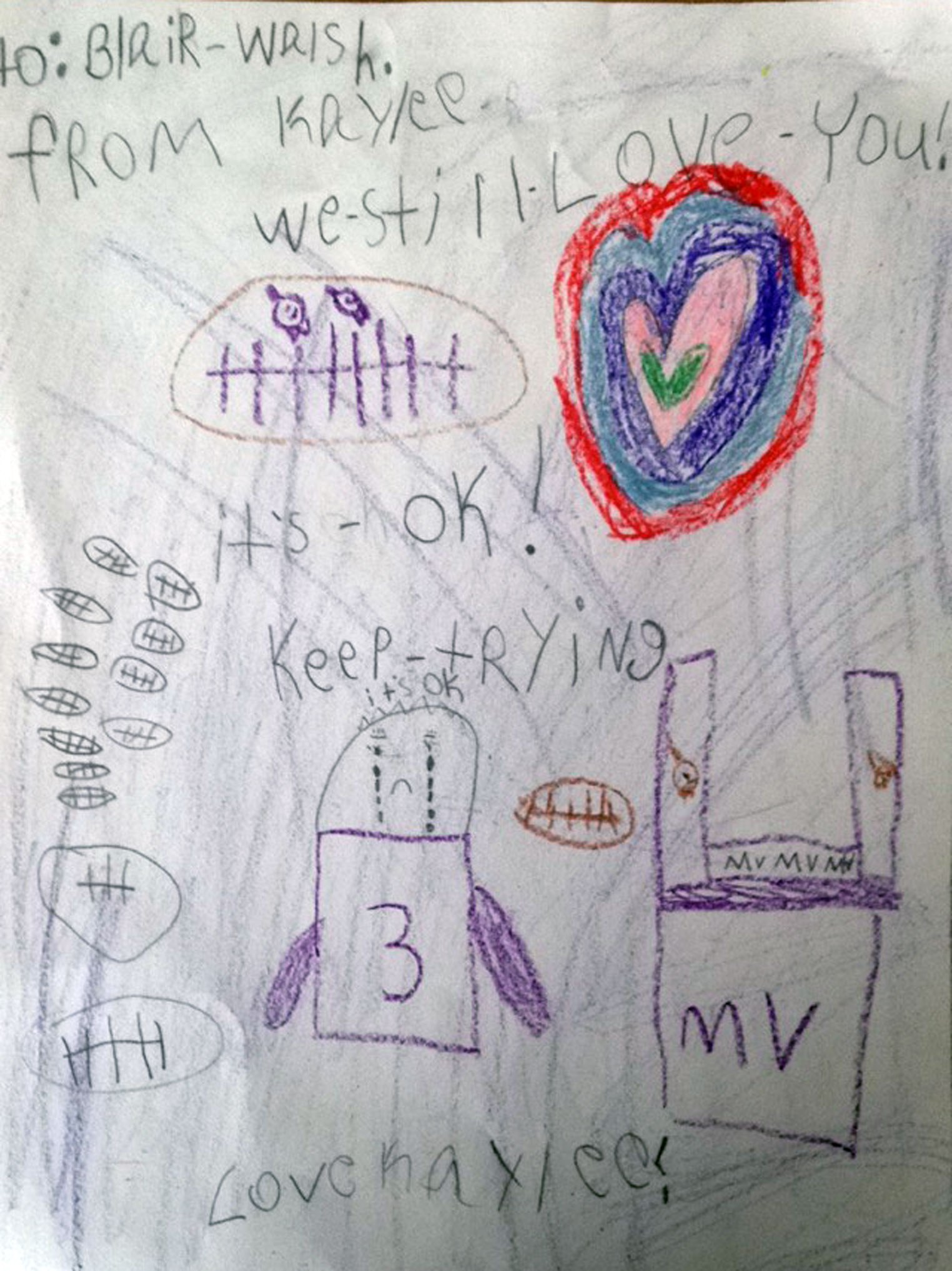 letter from first grader to Blair Walsh