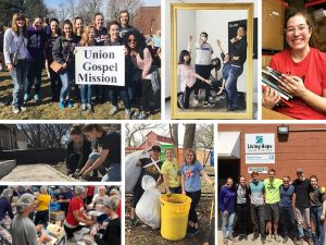 UNW students serving at various organizations around the Twin Cities