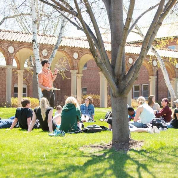 Dr. Joel Light teaching an outside class