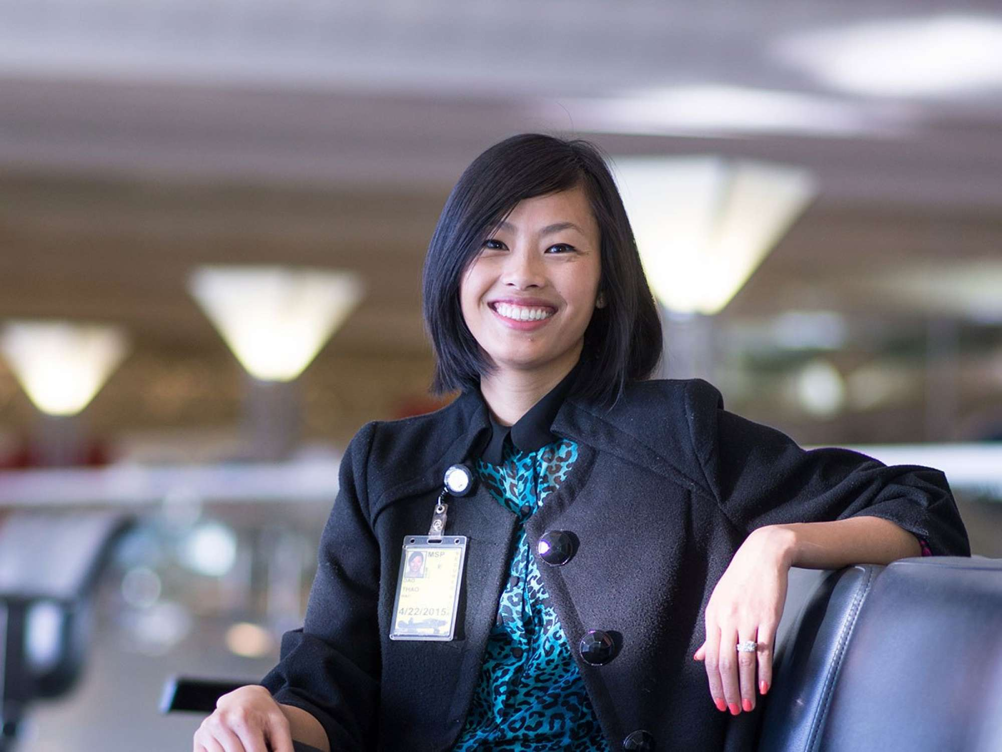 Portrait of Dao at the Minnepolis St. Paul International Airport