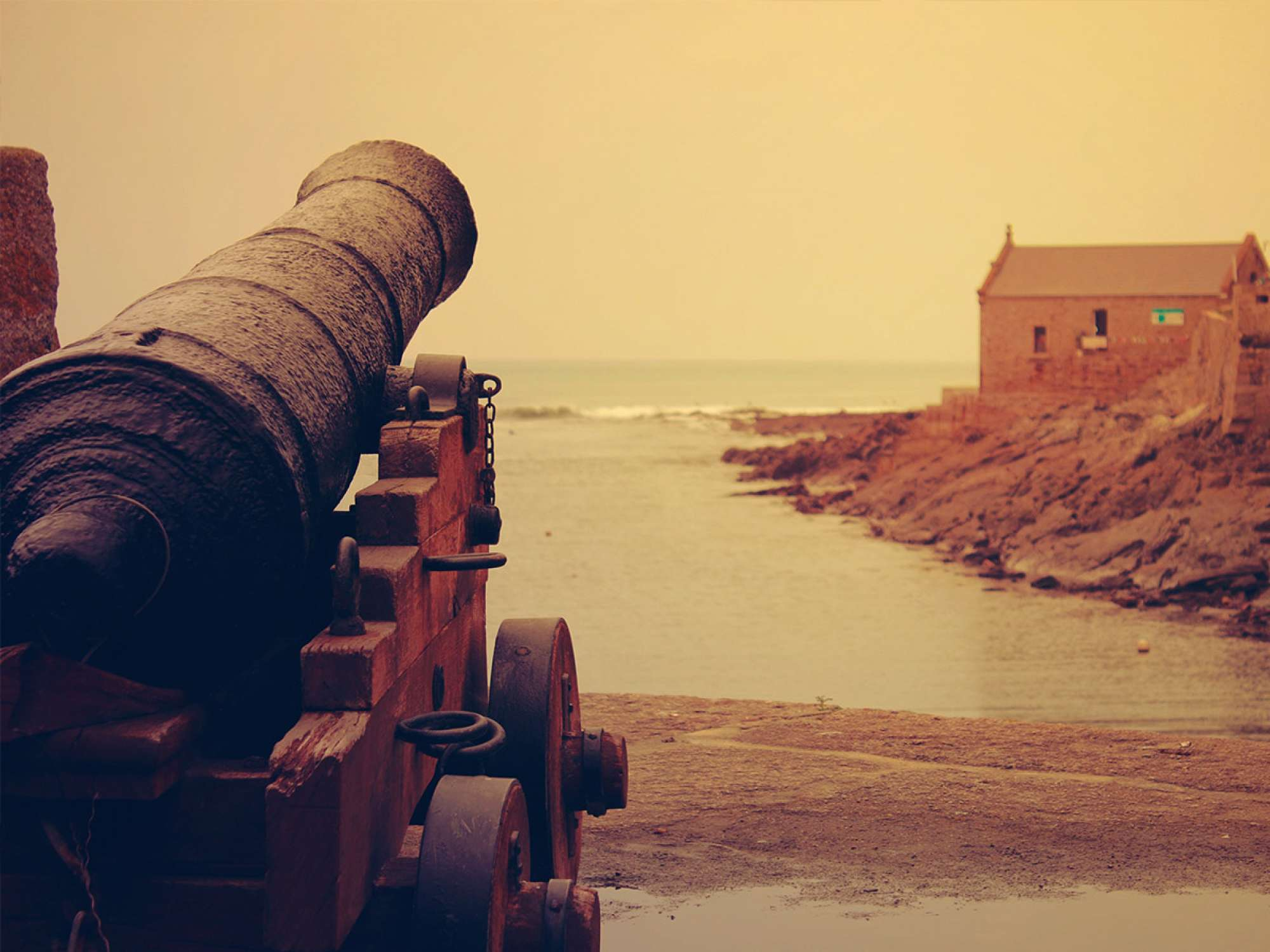 Old canon on island