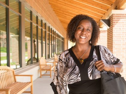 Portrait of Northwestern grad Andrea
