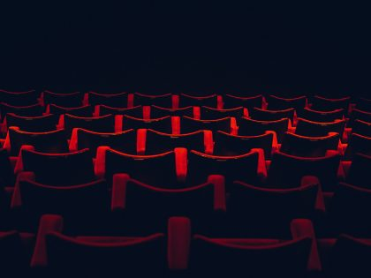 Open seats in an auditorium