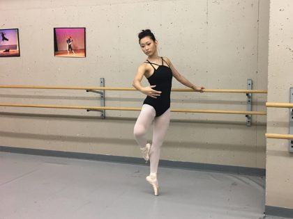 Girl in the ballet stuudio