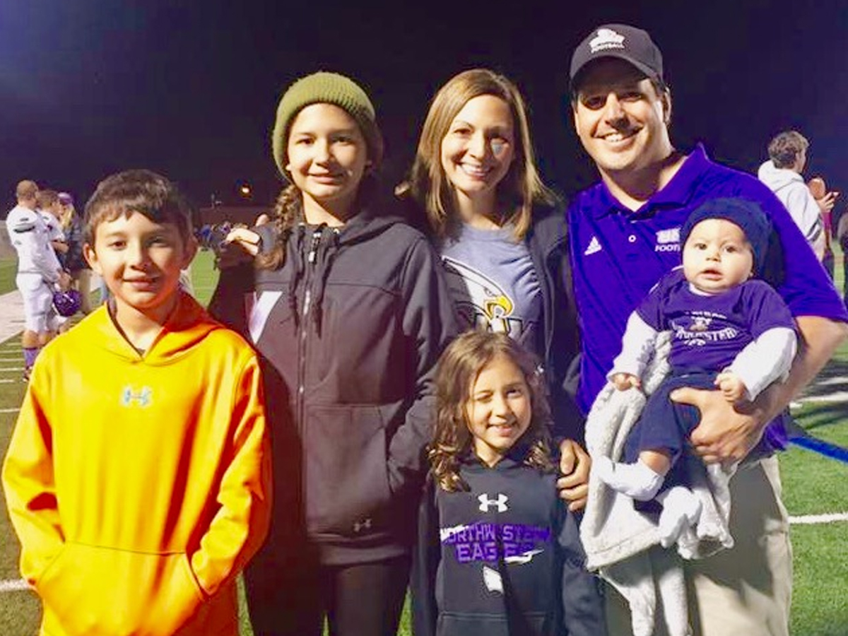 Tori Holt Family at football game
