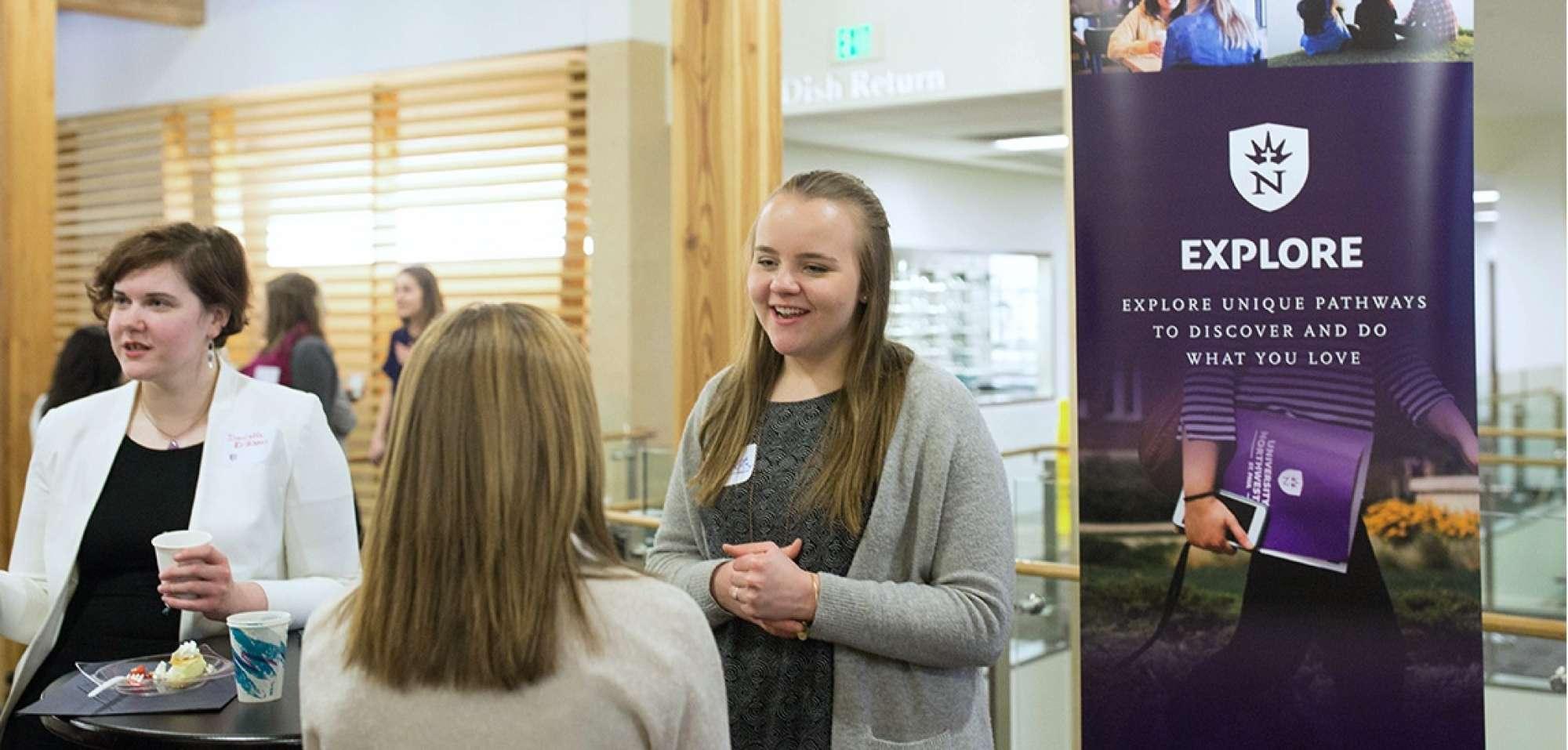 Career Development fair as Northwestern