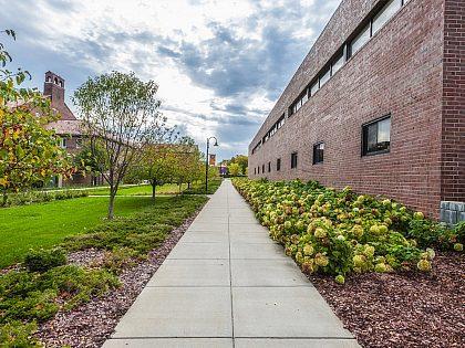 Campus sidewalk