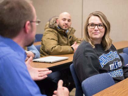 Adult Northwestern students in classroom