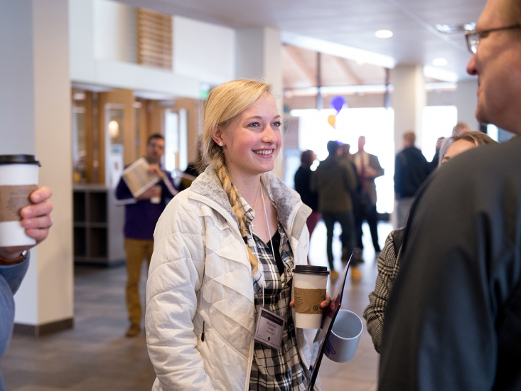Student at orientation