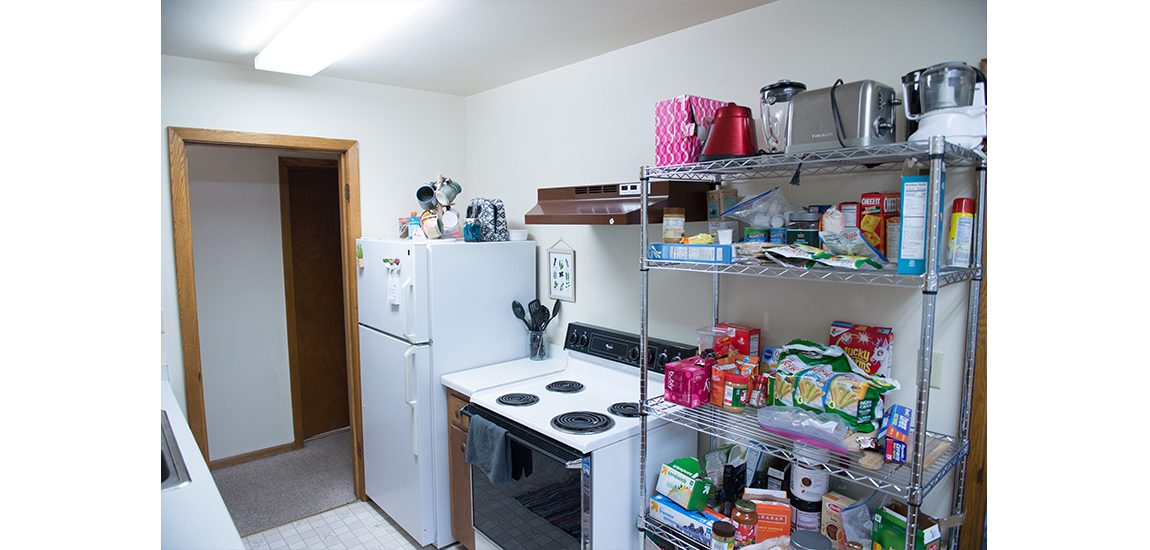 Ramseyer dorm room kitchen
