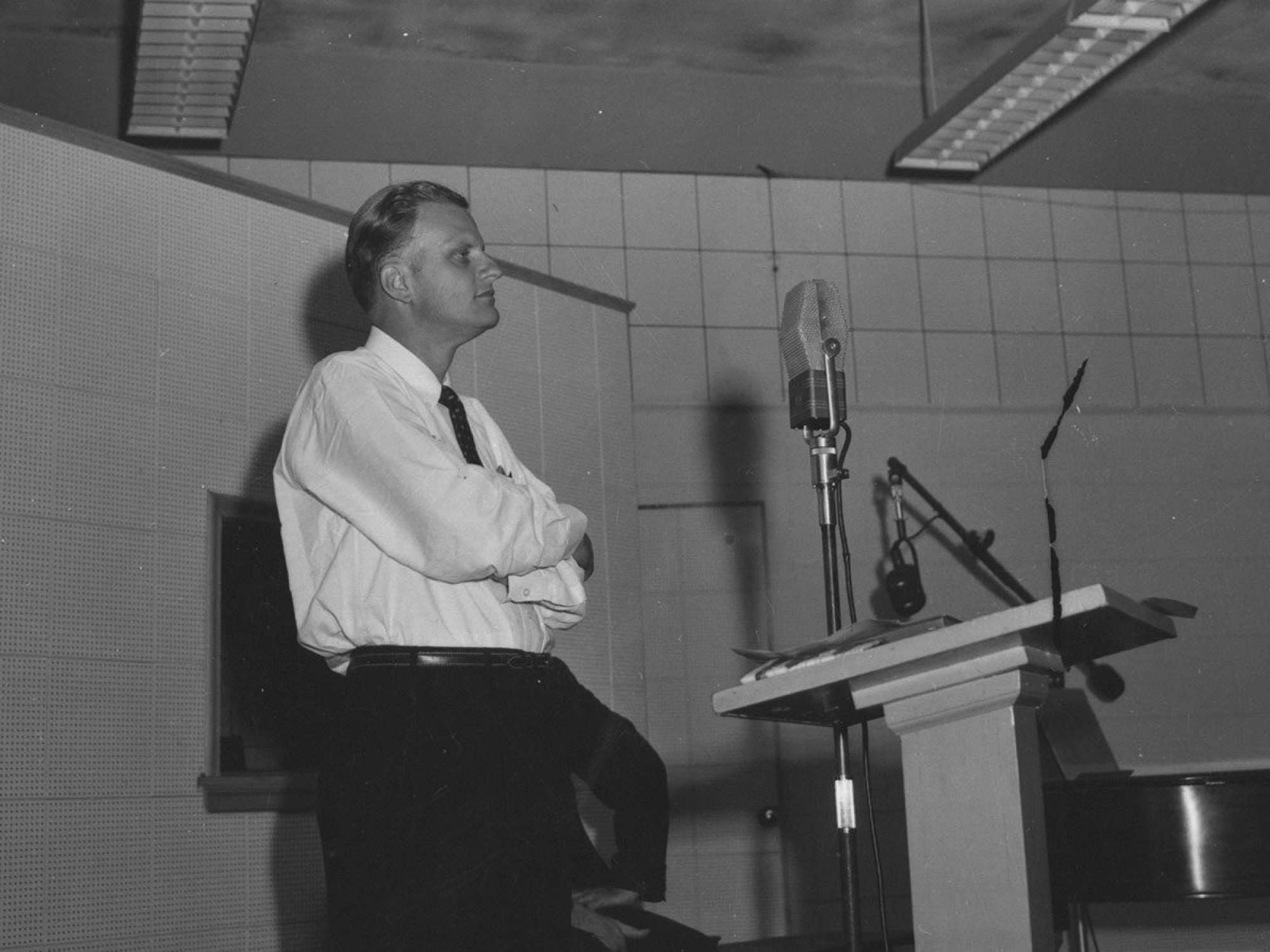 First KTIS broadcast with Billy Graham in 1949