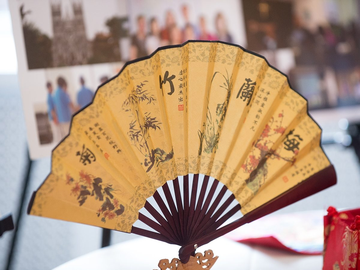 Chinese fan with art