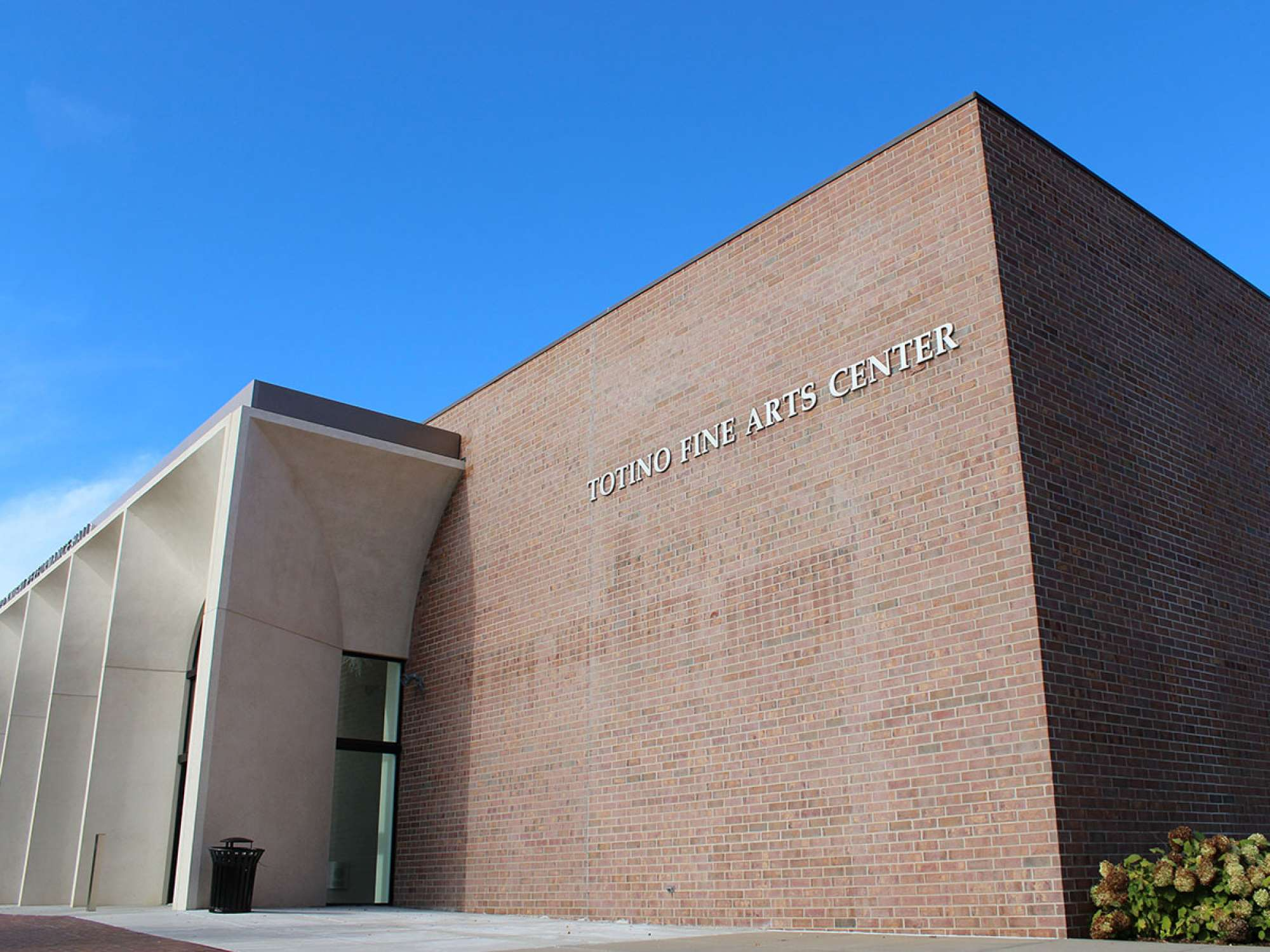 Exterior of the Totino Fine Arts Center