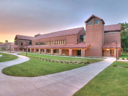 Billy Graham Building at sunset
