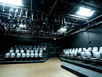 Seating and lighting in the Patsy Miller Studio Theatre