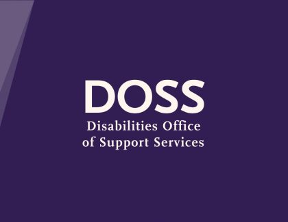 """DOSS - Disabilities Office of Support Services"""