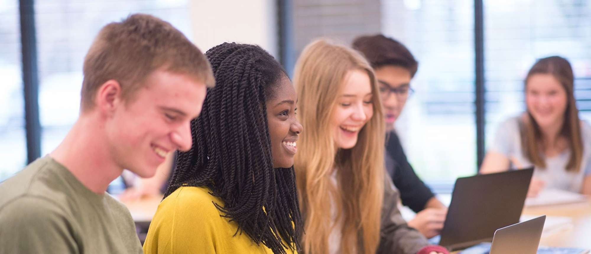 Diverse students in a classroom