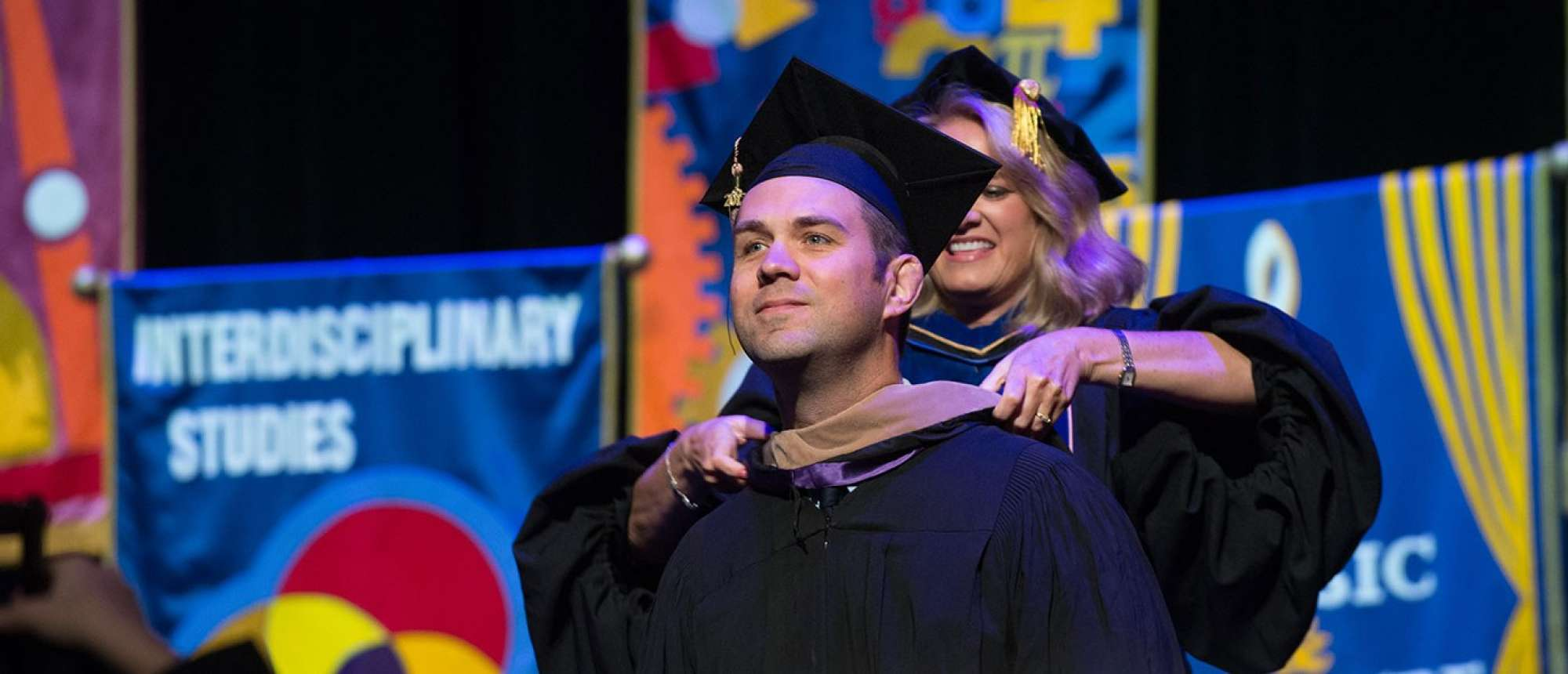 Carl Bliss on graduation