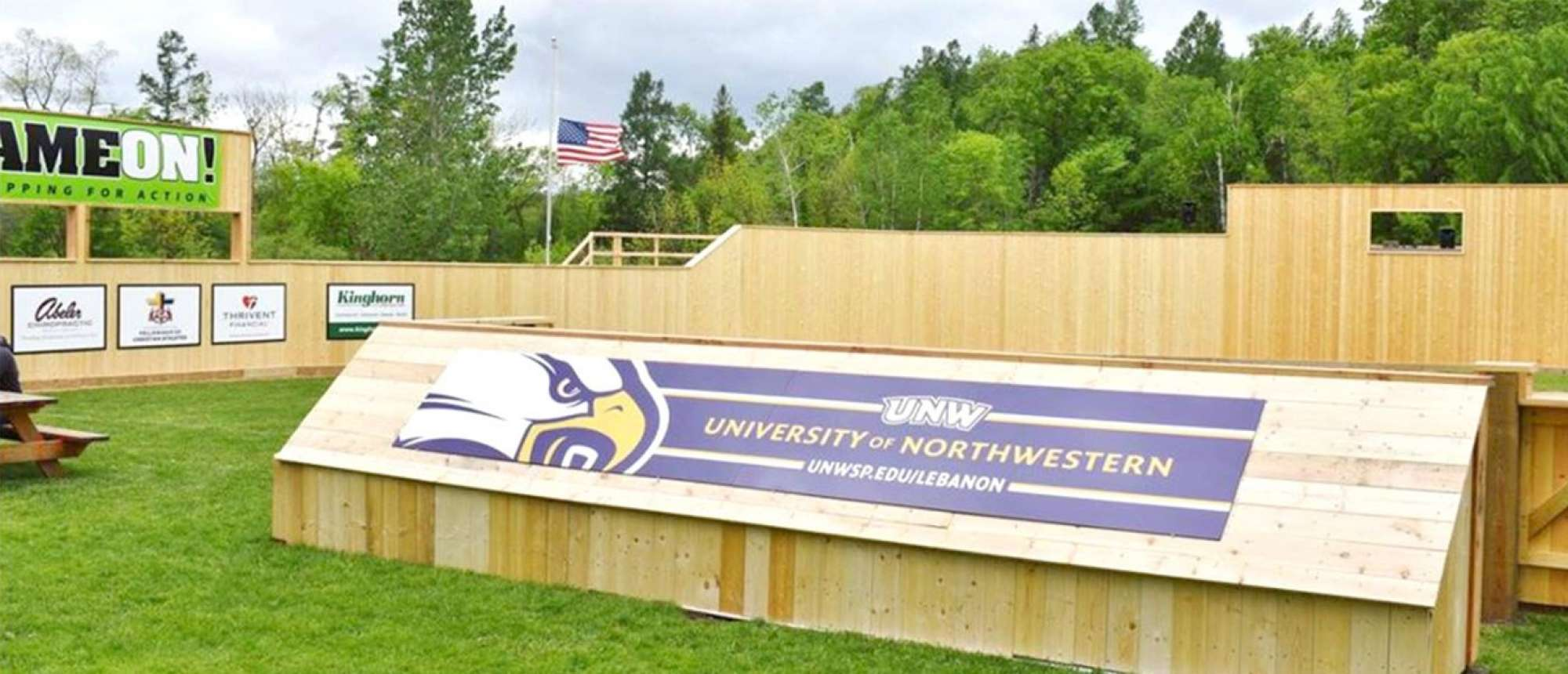 Northwestern sign at camp Lebanon