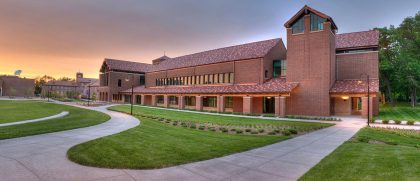 Photo of Billy Graham Community Life Commons building in the afternoon.