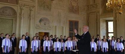 Choir singing in eastern Europe.