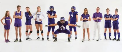 Photo of Northwestern athletes in various sports.