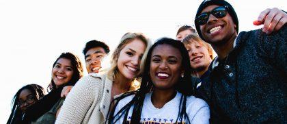 Undergraduates in group photo