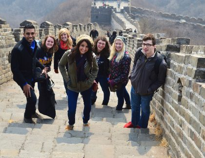 Group of students traveling abroad