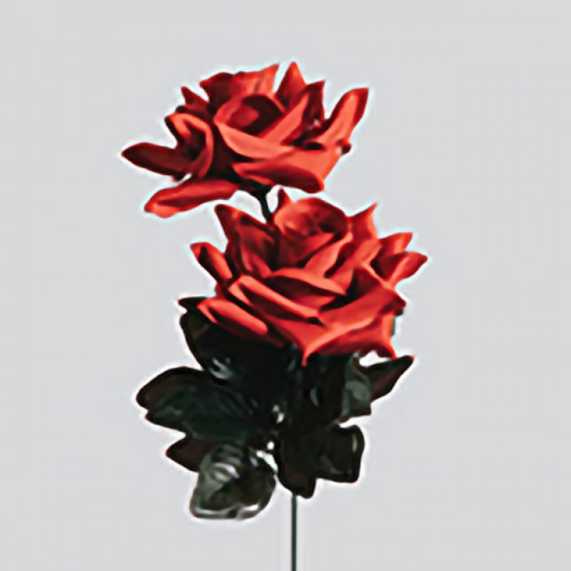Animated artwork of two roses