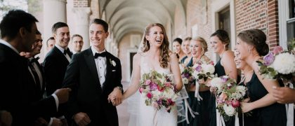 Wedding party at Nazareth Chapel