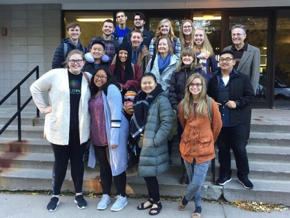 Group photo of Intercultural Studies Internship students