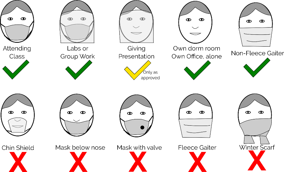 appropriate face coverings graphic